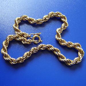【送料無料】ブレスレット アクセサリ― ゴールドロープブレスレット9ct gold hallmarked rope bracelet weighs 27g