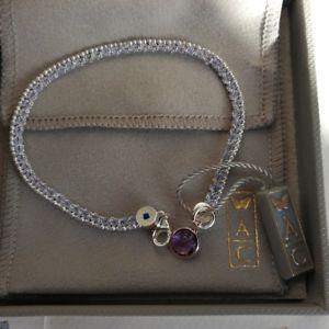 【送料無料】ブレスレット アクセサリ― アメジストスターリングシルバーブレスレットastley clarke amethyst sterling silver bracelet