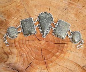 【送料無料】ブレスレット アクセサリ― ビンテージソリッドシルバーヘビーメノウブレスレットvintage 925 solid silver heavy agate bracelet