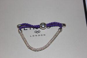 【送料無料】ブレスレット アクセサリ― ロンドンコードブレスレットリンク listinggenuine links of london effervescence xs silver and purple cord bracelet bnib