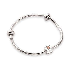 【送料無料】ブレスレット アクセサリ― シルバーローズゴールドマイルストーンビーズブレスレット¥clogau silver amp; rose gold milestones bead charm bracelet 19cm *55 rrp 219*