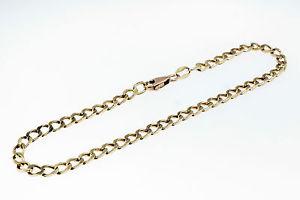 【送料無料】ブレスレット アクセサリ― イエローゴールドリンクブレスレット9ct yellow gold 75 square curb link bracelet 3mm wide