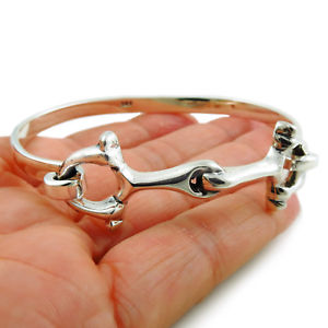 【送料無料】ブレスレット アクセサリ― スターリングシルバービットブレスレットカフボックスlarge horse snaffle 925 sterling silver riding bit bracelet cuff gift boxed