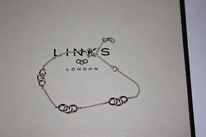 【送料無料】ブレスレット アクセサリ― ロンドンシルバーシグネチャブレスレットリンク listinggenuine links of london silver signature 3 station 21 cm bracelet 50102837