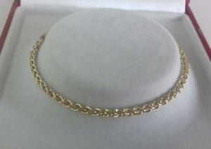【送料無料】ブレスレット アクセサリ― ゴールドレディースブレスレットグラムインチ9ct gold ladies spiga bracelet 37 grammes 7 inch hallmarked