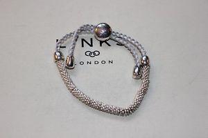【送料無料】ブレスレット アクセサリ― ロンドンシルバーホワイトコードブレスレットリンクgenuine links of london effervescence xs silver and white cord bracelet bnib