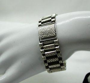 【送料無料】ブレスレット アクセサリ― シルバーストラップブレスレットladies gents heavy silver strap bracelet