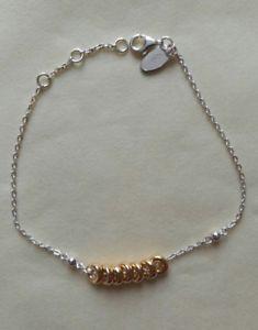 【送料無料】ブレスレット アクセサリ― ロンドンキャンディブレスレットリンクスターリングシルバーイエローゴールドlinks of london xs sweetie bracelet sterling silver and yellow gold vermeil