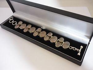 【送料無料】ブレスレット アクセサリ― ビンテージローズクォーツガーネットスターリングシルバーブレスレットstunning, unique large vintage rose quartz amp; garnet sterling silver bracelet