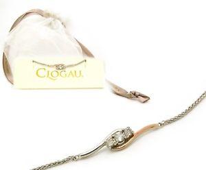 【送料無料】ブレスレット アクセサリ― シルバーウェールズローズゴールドスワロフスキートパーズブレスレットclogau silver welsh rose gold swarovski topaz bracelet in a gift pouch