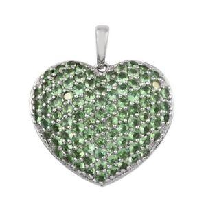 【送料無料】ブレスレット アクセサリ― プラチナムシルバーペンダントガーネットplatinum plated silver pendant for women with tsavorite garnet