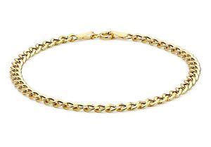 【送料無料】ブレスレット アクセサリ― イエローゴールドフラットブレスレットインチ9ct yellow gold hollow flat curb bracelet 18cm 7 inch