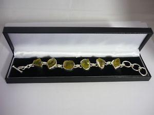 【送料無料】ブレスレット アクセサリ― ラフカットライムレモンスターリングシルバーデザイナーブレスレットstunning, unique large rough cut lime citrine sterling silver designer bracelet