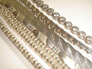 【送料無料】ブレスレット アクセサリ― ソリッドシルバーブレスレットfive very nice modern various solid silver amp; paste bracelets 93gms