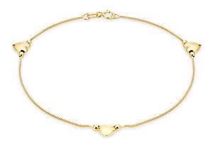 【送料無料】ブレスレット アクセサリ― イエローゴールドハートボックスチェーンブレスレットボックス9ct yellow gold heart and box chain bracelet 18cm7 inc luxury gift box