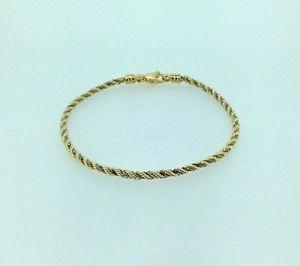 【送料無料】ブレスレット アクセサリ― イエローホワイトゴールドロープブレスレットレディースビンテージグラム375 9ct yellow and white gold rope bracelet ladies vintage 34 grams