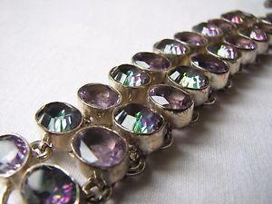 【送料無料】ブレスレット アクセサリ― シルバーミスティックトパーズブレスレットsilver mystic topaz double row bracelet unused stunning