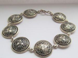 【送料無料】ブレスレット アクセサリ― フランスセルティックブレスレットグラムsterling silver french celtic bracelet 229 grams