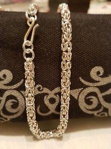【送料無料】ブレスレット アクセサリ― スターリングシルバービザンチンブレスレットbeautiful sterling silver byzantine bracelet hand made to order