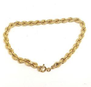【送料無料】ブレスレット アクセサリ― ソリッドイエローゴールドロープチェーンブレスレット9ct solid yellow gold rope chain bracelet 675 fully hallmarked