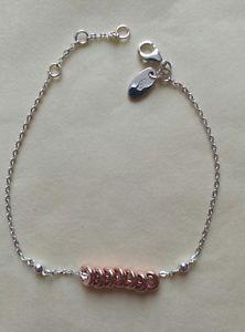 【送料無料】ブレスレット アクセサリ― ロンドンキャンディブレスレットリンクスターリングシルバーローズゴールドlinks of london xs sweetie bracelet sterling silver and rose gold vermeil