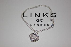 【送料無料】ブレスレット アクセサリ― ロンドンスターリングシルバードリームキャッチャーハートブレスレットリンクgenuine links of london sterling silver dream catcher heart bracelet 19 cm