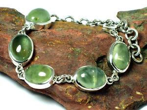 【送料無料】ブレスレット アクセサリ― スターリングシルバーブレスレットボックスprehnite  sterling silver 925  gemstone bracelet  gift boxed