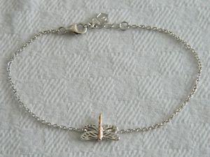 【送料無料】ブレスレット アクセサリ― シルバーローズウェールズゴールドブレスレットclogau silver amp; 9ct rose welsh gold damselfly bracelet rrp 9900