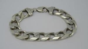 【送料無料】ブレスレット アクセサリ― ソリッドスターリングシルバーリンクロングブレスレットグラム***solid sterling silver curb link 8 long bracelet534 grams***
