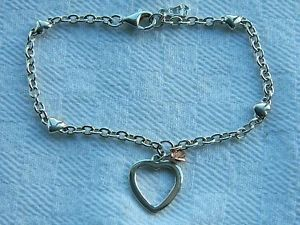 【送料無料】ブレスレット アクセサリ― スターリングシルバーウェールズゴールドハートブレスレットclogau sterling silver amp; welsh gold heart bracelet
