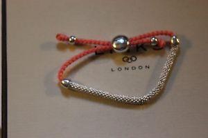 【送料無料】ブレスレット アクセサリ― ロンドンコードブレスレットリンクgenuine links of london effervescence xs silver and peach cord bracelet bnib