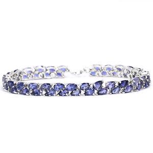 【送料無料】ブレスレット アクセサリ― スターリングシルバーアイオライトテニスブレスレットインチsterling silver 925 genuine blue purple iolite 2 row tennis bracelet 712 inch