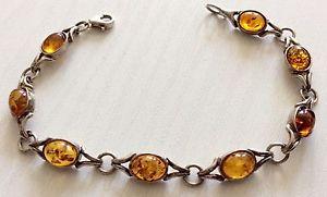 【送料無料】ブレスレット アクセサリ― レディースビンテージソリッドシルバーオレンジブレスレットbeautiful ladies vintage solid silver lovely quality amber bracelet stunning