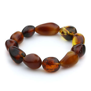 【送料無料】ブレスレット アクセサリ― バルトブレスレットオリーブビーズグラムgenuine baltic amber bracelet large olive beads 13mm 13gr jnr56