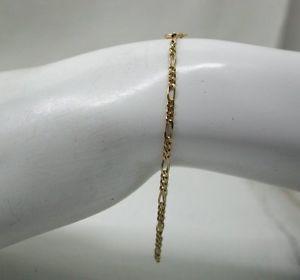 【送料無料】ブレスレット アクセサリ― ゴールドフィガロリンクブレスレットvery nice 9ct gold figaro link bracelet