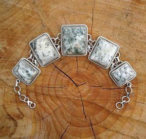 【送料無料】ブレスレット アクセサリ― ビンテージソリッドシルバーヘビーブレスレットvintage 925 solid silver agate heavy bracelet