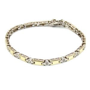 【送料無料】ブレスレット アクセサリ― ホワイトトパーズブレスレットスターリングシルバーゴールドグランプリwhite topaz bracelet sterling silver with 9ct gold overgp1