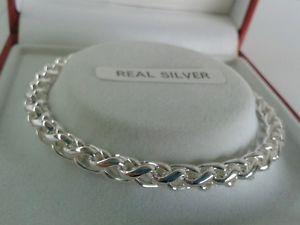 【送料無料】ブレスレット アクセサリ― スターリングシルバーレディースブレスレットインチsterling silver ladies solid braided curb bracelet 75 inch 166ghallmarked