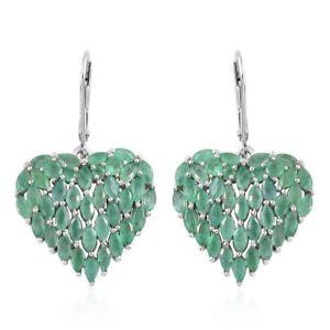 【送料無料】ブレスレット アクセサリ― ザンビアエメラルドイヤリングプラチナスターリングシルバーハートzambian emerald earrings platinum plated sterling silver heart for women