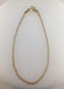 【送料無料】ブレスレット アクセサリ― ゴールドスクエアブレスレット9ct gold square curb bracelet 2mm width  75  15g