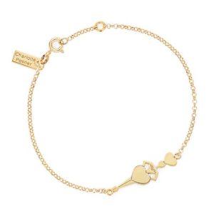 【送料無料】ブレスレット アクセサリ― デザイナーイエローゴールドハートブレスレットdesigner heart bracelet in yellow gold vermeil charlottposner