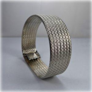 【送料無料】ブレスレット アクセサリ― ビンテージシルバーブレスレットロンドンvintage silver 75 flexible bracelet, london 1976