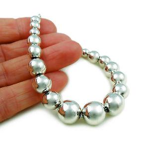 【送料無料】ブレスレット アクセサリ― ボールビーズスターリングタスコシルバービーズブレスレットボックスball beads 925 sterling taxco silver bead bracelet gift boxed