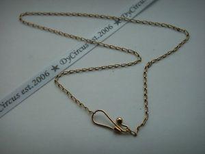 【送料無料】ブレスレット アクセサリ― ゴールドアンティークチェーン9ct gold antique 16 chain