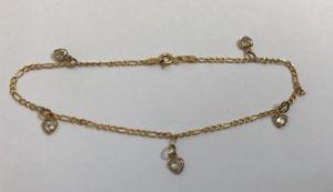 【送料無料】ブレスレット アクセサリ― ブレスレットゴールドインチgold womens love heart bracelet 9ct gold length 9 w172g stamped width 25g
