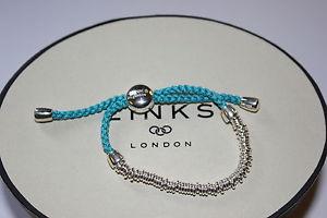 【送料無料】ブレスレット アクセサリ― ロンドンスターリングシルバーキャンディティールコードブレスレットリンクgenuine links of london sterling silver sweetie xs with teal cord bracelet