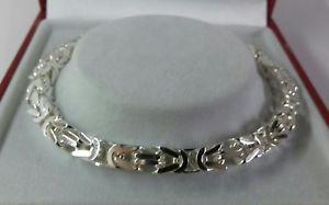【送料無料】ブレスレット アクセサリ― ソリッドビザンチンブレスレットインチsterling silver gents solid byzantine bracelet 85 inch 232g hallmarked