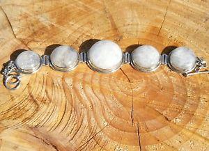 【送料無料】ブレスレット アクセサリ― スターリングシルバーヘビービンテージムーンストーンブレスレット925 stirling silver heavy vintage moonstone bracelet