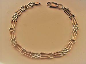 【送料無料】ブレスレット アクセサリ― イエローホワイトゴールドファンシーリンクブレスレット9ct yellow amp; white gold fancy link bracelet