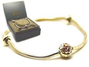 【送料無料】ブレスレット アクセサリ― シルバーウェールズローズゴールドピンクブレスレットマイルストーンツリーclogau silver welsh rose gold pink milestone tree of life charm bracelet 19cm